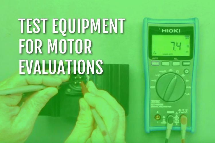 Test equipment for motor evaluation