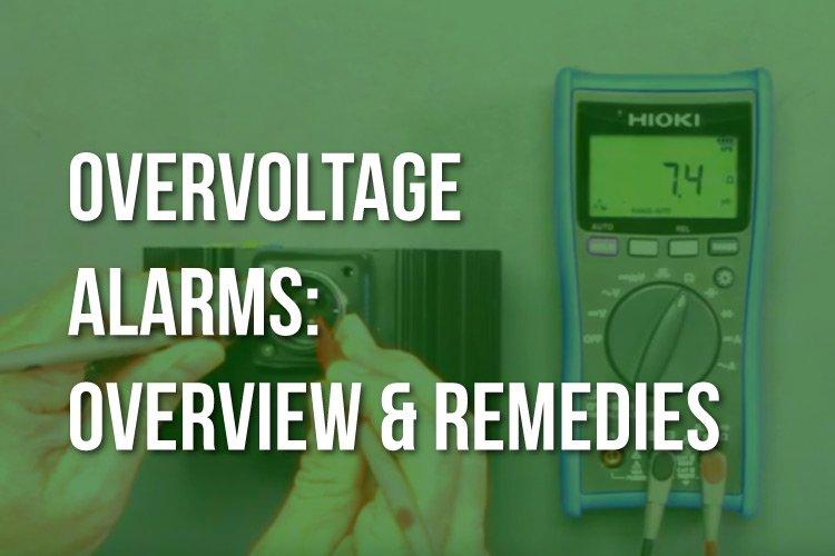 Overvoltage alarms resolution