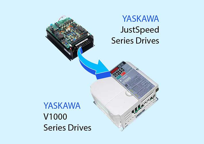 Yaskawa JustSpeed to V1000 drive retrofit