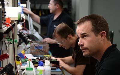 Precision Zone Technicians at work